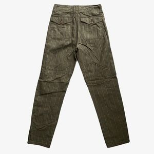 AEO Olive Green Striped Cargo Pants